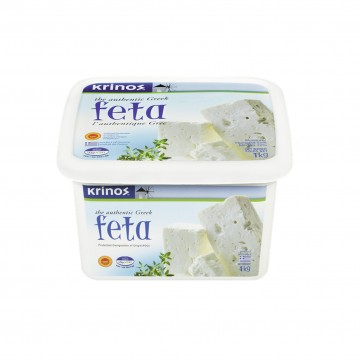 Greek Feta Cheese 1kg Tupper