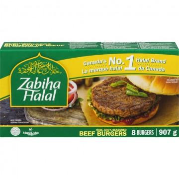 Zabiha Halal Beef Burgers 8pcs